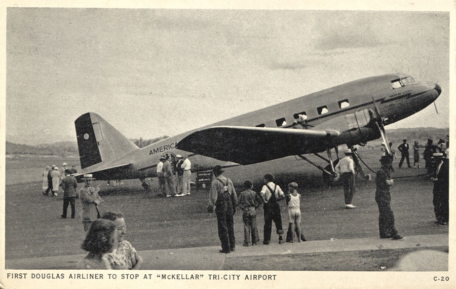 05-Sz-American-Airlines-DC-2-at-McKellar-Tri-City-Airport-(now-Tri-Cities-Reglonal-Airport)-TN,-Marvin-G-Goldman-Coll'n