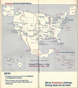 American Airlines Timetables World Airline Historical Society - Us airways europe route map