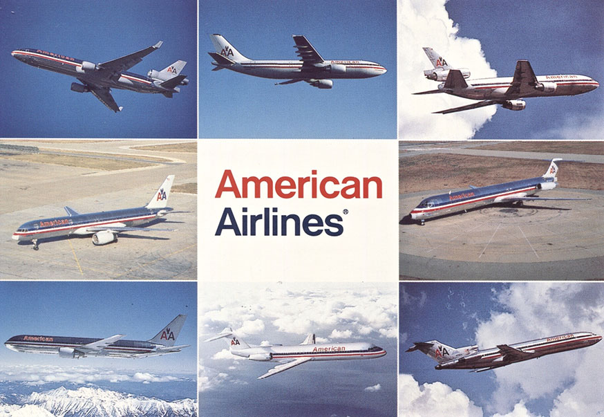 American airlines postcards world airline historical society for American airlines plane types