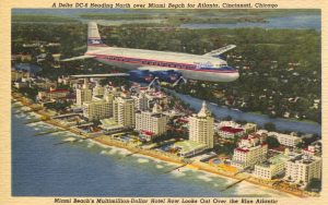 Delta Air Lines and Predecessors on Postcards