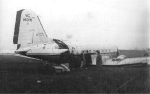 DC-3 Lands in Jersey Swamp
