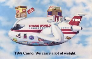 TWA – Trans World Airlines on Postcards